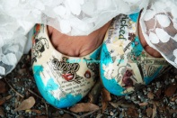 Wizard of Oz Wedding Shoes I decoupaged 2013