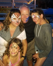 A family that paints together.. has fun